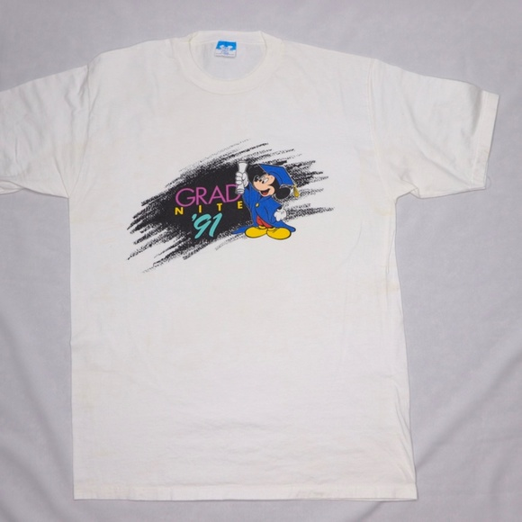 Other - DISNEY Grad Night 1991 Made in USA White tee